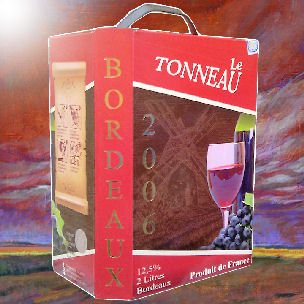 Bag in box Bordeaux wine two litres